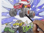 Replay 1, 2, 3... Coloriage ! | Blaze et les Monster Machines | C'est Noël ! | Episode entier