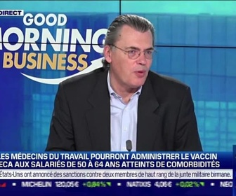Replay Good Morning Business - Benoît Serre (ANDRH): Covid-19, la vaccination en entreprise possible à partir de ce jeudi - 23/02