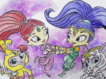 Replay 1, 2, 3... Coloriage ! | Shimmer et Shine | Alors on danse | Episode entier